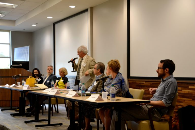 Kramer at panel discussion