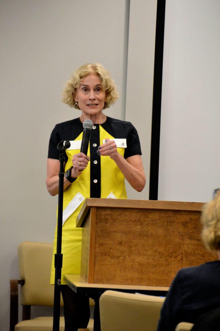 Martha Nussbaum speaking at panel