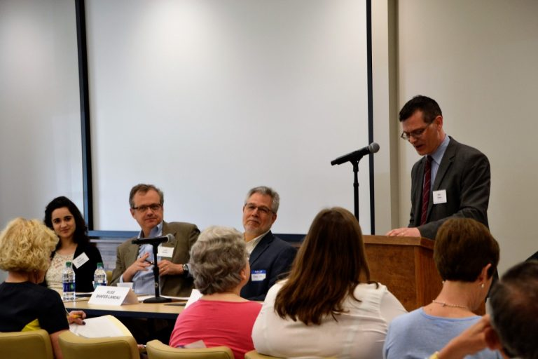 Max Owre speaking at panel discussion