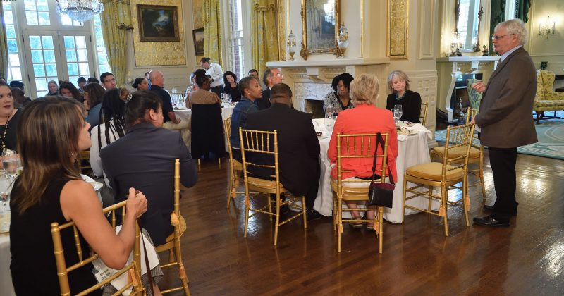 Teacher workshop, with lunch and program at the Executive Mansion, 10/10/2019.